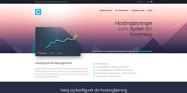 cHosting.dk - dansk webhosting med fantastiske anmeldelser