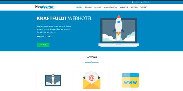 Netgiganten.dk - webhoteller til både nybegynderen og den erfarne hjemmesideejer